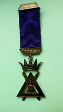 Rare  ANTIQUE Masonic SILVER  RSM  SCOTTISH JEWEL c1900 ROYAL & SELECT MASTERS
