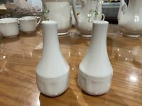 Vintage White Federalist Ironstone Salt and Pepper Shakers from Sears Japan Made