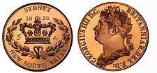 Australia NSW George IV Retro Crown 1830  Pure Copper Low Mintage