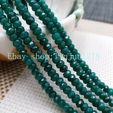 """2x4mm Natural Faceted Green Emerald GEMSTONE Loose Beads 15"""" #2"""