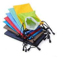 5Pcs Waterproof Sunglasses Eyeglasses Soft Cloth Drawstring Dust Pouch Carry Bag