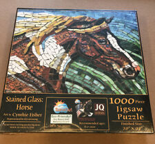 Stained Glass Horses Jigsaw Puzzle Cynthia Fisher 1000 Piece
