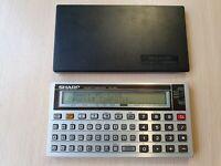 SHARP PC-1260 Pocket Computer, BASIC Calculator, Taschenrechner #631