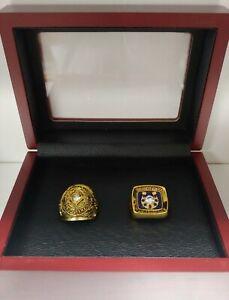 Johnny Unitas - Baltimore Colts Championship Super Bowl 2 Ring Set With Wood Box