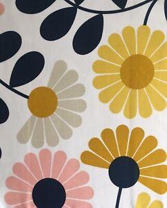 "ORLA KIELY Kimono Floral Multi Flowers FQ 50cm 20"" Square Cotton Fabric New"