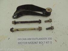 04 CANAM OUTLANDER 330 BOMBARDIER MOTOR MOUNT BRACKET BOLT KIT D