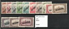Hungary 1918 Harvesters & Parliament overprint set SG282/94 hinged mint