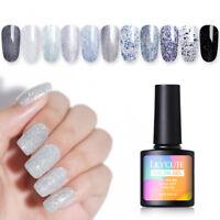 LILYCUTE 8ml Glitter Sequins UV Gel Polish Shimmer Soak Off Nail Art Gel Varnish