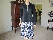 Beautiful St Johns Black & White Jacket and Skirt, Jacket Size S and Skirt 6
