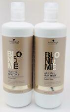 Schwarzkopf BlondMe Keratin Restore Bonding Shampoo 33.8oz Sulfate-free (2x)