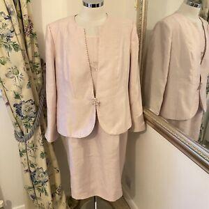 Jacques vert Size 20 light pink dress suit party mother old the bride races