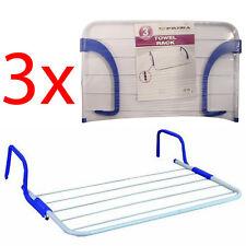 3 X TOWEL RACK RADIATOR CLOTHES 3M DRYER LAUNDRY 5 RAIL BAR WASHING BATHROOM NEW