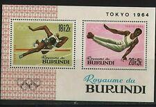 WORLDWIDE  OLYMPICS  1964    BURUNDY  SOUVENIR LIST, LOT  # 15 B