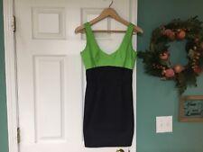 Women's EMMA GRAHAM Green & Navy Dress Size 4 (CON8)