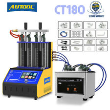 Autool Ct180 Ultrasonic Fuel Injector Tester Cleaner Cleaning Machine 4 Cylinder