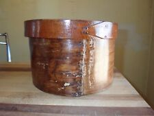 Antique Shaker Pantry Box Round New England Bentwood Heavy Very High Quality