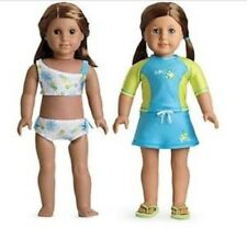 American Girl Doll 2 in 1 Surf and Sun Swimsuit Outfit NEW!! Retired