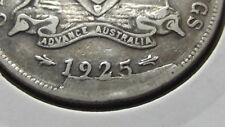 1925 Florin Die Crack and Cud date ERROR, Listed as RARE. Nice Coin.