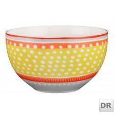 Oilily Porzellanschale gelb-hellblau-orange-rot mit weißen Punkten D: 15cm K04