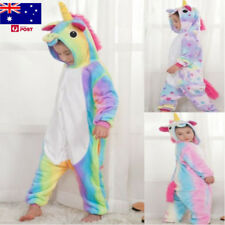 Kids Rainbow Unicorn Kigurumi Animal Cosplay-Costume Onesie16 Pajamas Sleepwear_