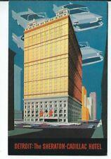 CH-359 MI, Detroit, Sheraton Cadillac Hotel Chrome Postcard