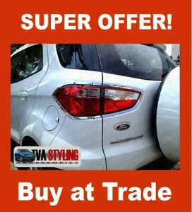 FORD ECOSPORT REAR LIGHT COVERS CHROME SURROUNDS 2014 ON TAIL LAMP COVER ABS
