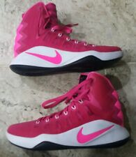 new style f9321 7dd40 NIKE Mens Hyperdunk Vivid Pink Pink Breast Cancer Awareness Basketball Shoe  US9!