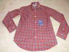NEW RED & BLUE PLAID COLLARED DRESS SHIRT SIZE 12 BY THOMAS MASON FOR CREWCUTS