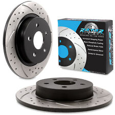 REAR GROOVED DRILLED 280mm BRAKE DISCS FOR FORD FOCUS MK2 2.5 ST 225 ST225 05+
