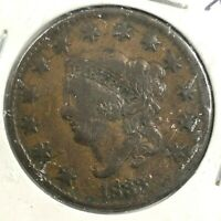 1833 Coronet Matron Head Copper Large Cent