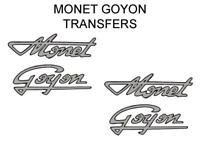 Monet Goyon Tank Transfers Decals Motorcycle Sold as a Pair Silver/Black