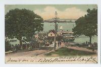 Forest City Steamboat Landing PEAKS ISLAND ME Vintage 1907 Maine Postcard