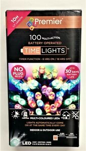 Premier 100 Multi-Action Time Lights Battery operated 10M