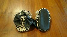 Baby girl prewalker paws leather w leopard print 10.5cm BNWOT free postage C98