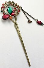 JEWELLED HAIR STICK PIN WITH CHAINS 6""