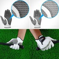 White Mens Leather Golf Gloves Left / Right Hand **PACK of 1**