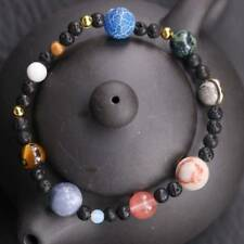 Unisex Handmade Solar System Bracelet Universe Galaxy The Nine Planets Guardian