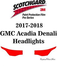 3M Scotchgard Paint Protection Film Pro Series Clear 2017 2018 GMC Acadia Denali
