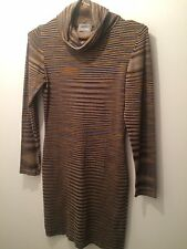 Missoni Sport Stripe Polo Neck Dress Size Small UK 8