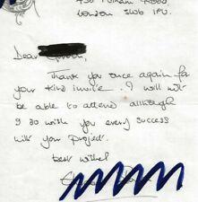 Elisabeth Sladen (Sarah Jane) Doctor Who original hand written letter autograph