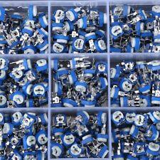 375pcs Variable Resistor Assortment 100 Ohm 1 Mohm 15 Values Potentiometer