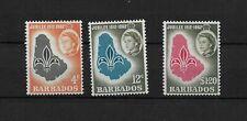 Barbados, 1962 QEII scout jubilee, complete set LMM (8282)