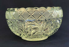 vintage L.E. Smith clear pressed glass punch bowl, HOLIDAY 1930s