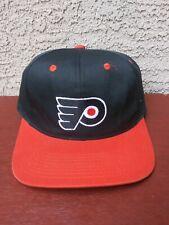Vintage 90's Philadelphia Flyers Snapback Hat Cap NHL Logo 7 Black & Orange VTG
