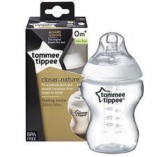 Tommee Tippee Closer to Nature 260ml/9oz Baby Bottle & Teat EasiVent 0m BPA Free