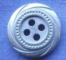 15mm Silver 4 Hole Button