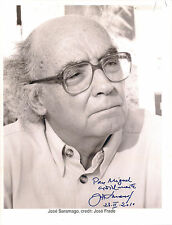 JOSE SARAMAGO  8X10 B&W Photograph SIGNED by the Nobel Prize Winning Author RARE
