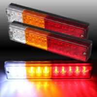 2x CARAVAN TRUCK TRAILER LED STOP REAR TAIL REVERSE LIGHT INDICATOR LAMP 12V 24V
