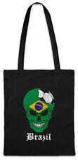 Brazil Football Skull I Shopper Shopping Bag brazilian Soccer Flag World