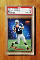 1998 Topps Stars Red /8799 PEYTON MANNING Rookie Colts PSA 7